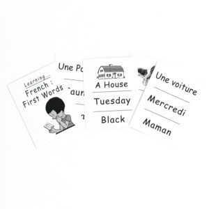 Learning French first words - Marc Vidal - Croque-Maman - cards