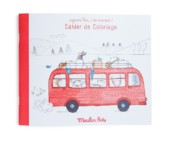 Coloring book for kids – Red Campervan