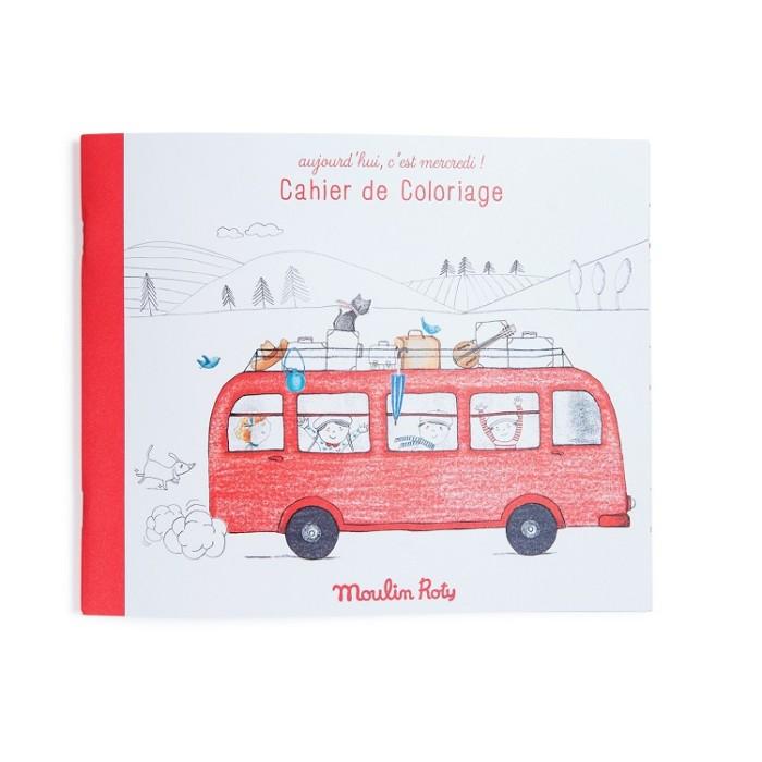 Coloring book for kids – Red Campervan