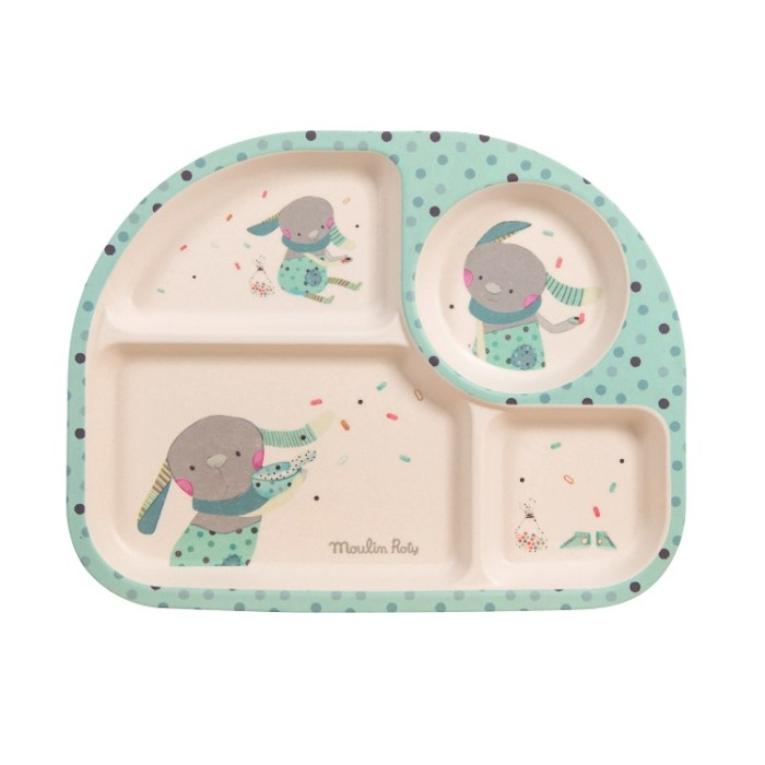 Kids divided plate – Les Jolis Trop Beaux – Green