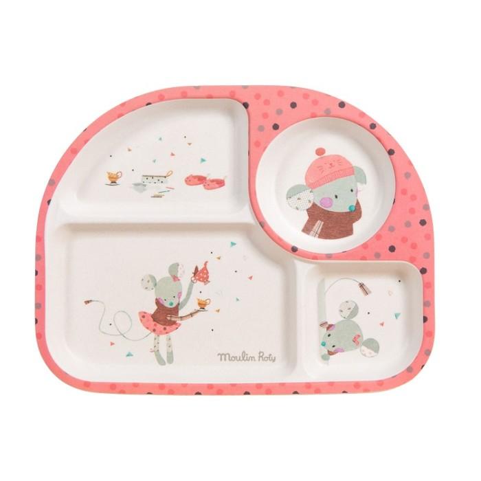 Kids divided plate – Les Jolis Trop Beaux – Pink