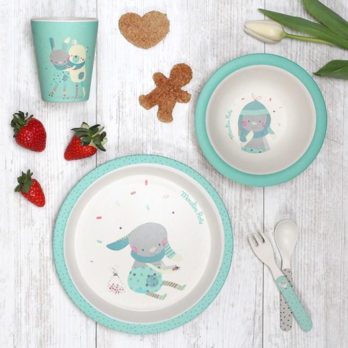 Bamboo kids tableware – Les Jolis Trop Beaux – Green