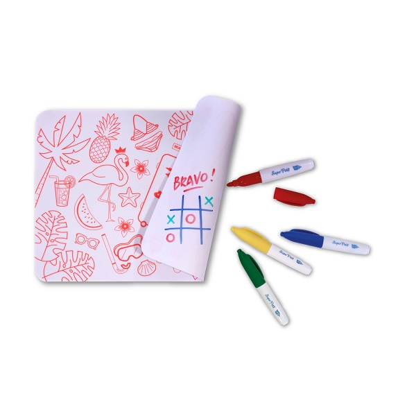 Mini colour and erase mat, with pens – Florida