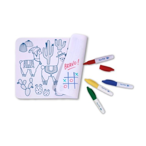 Mini colour and erase mat, with pens – Lama