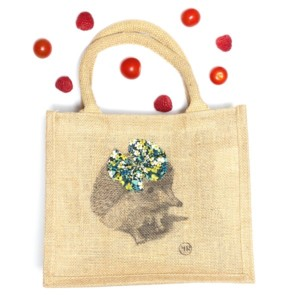 Children jute shopping bag – Miss Hedgehog - Croque-Maman - Mr Naturaliste - Fruits and Vegetables