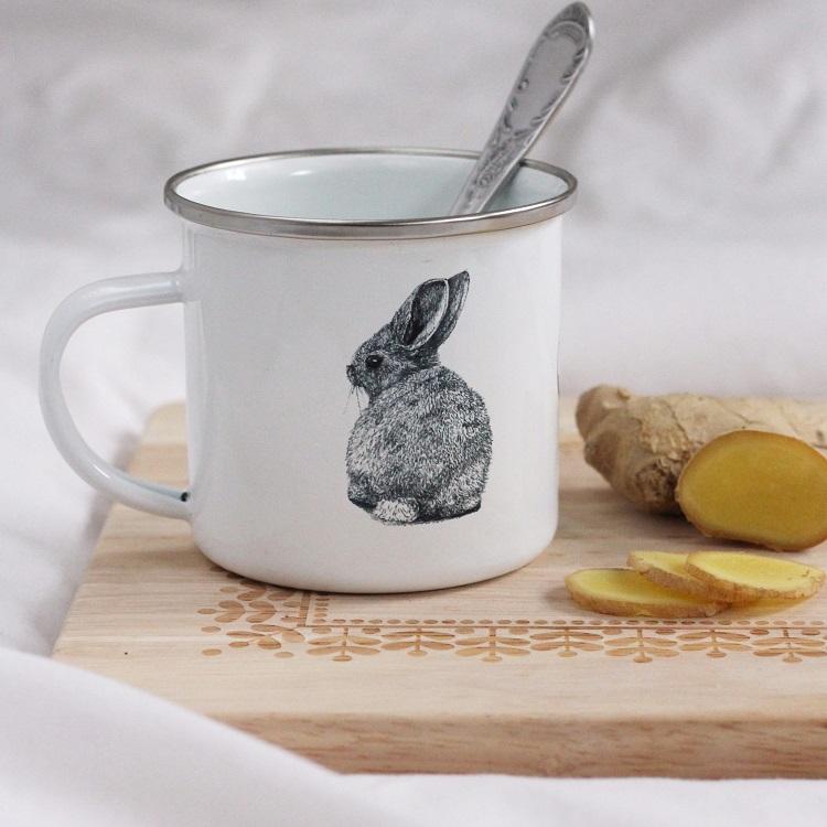 Comforting ginger tea - health benefits of ginger - Croque-Maman - Mr Naturaliste mug