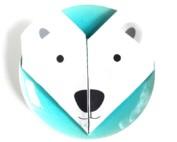 Origami cotton napkins – Set of 4 – Polar bear