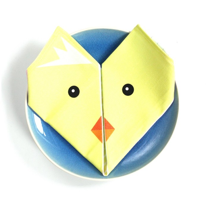 Origami cotton napkins – Set of 4 – Chick