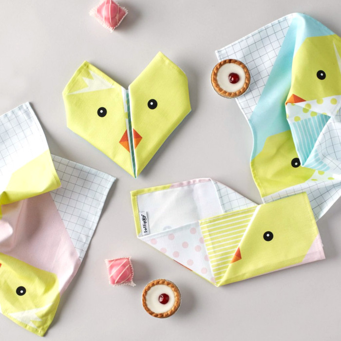 Origami cotton napkins – Set of 4 – Chick