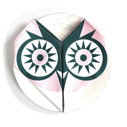 Origami cotton napkins – Set of 4 – Owl